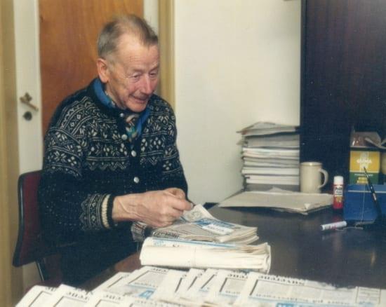 SELBYGGENS LEGENDARISKE PETER P. HAAVE hadde ulike verv i lokalavisas styre i hele 41 år, fra 1947 til 1988.