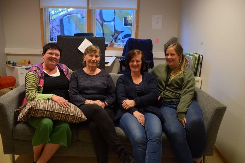 Janne Paulsby (t.v.), Dagrun Aursjø, Marit Uthus og Tina Mjåland Mathisen jobber i rus og psykisk helsetjenesten i Selbu kommune.