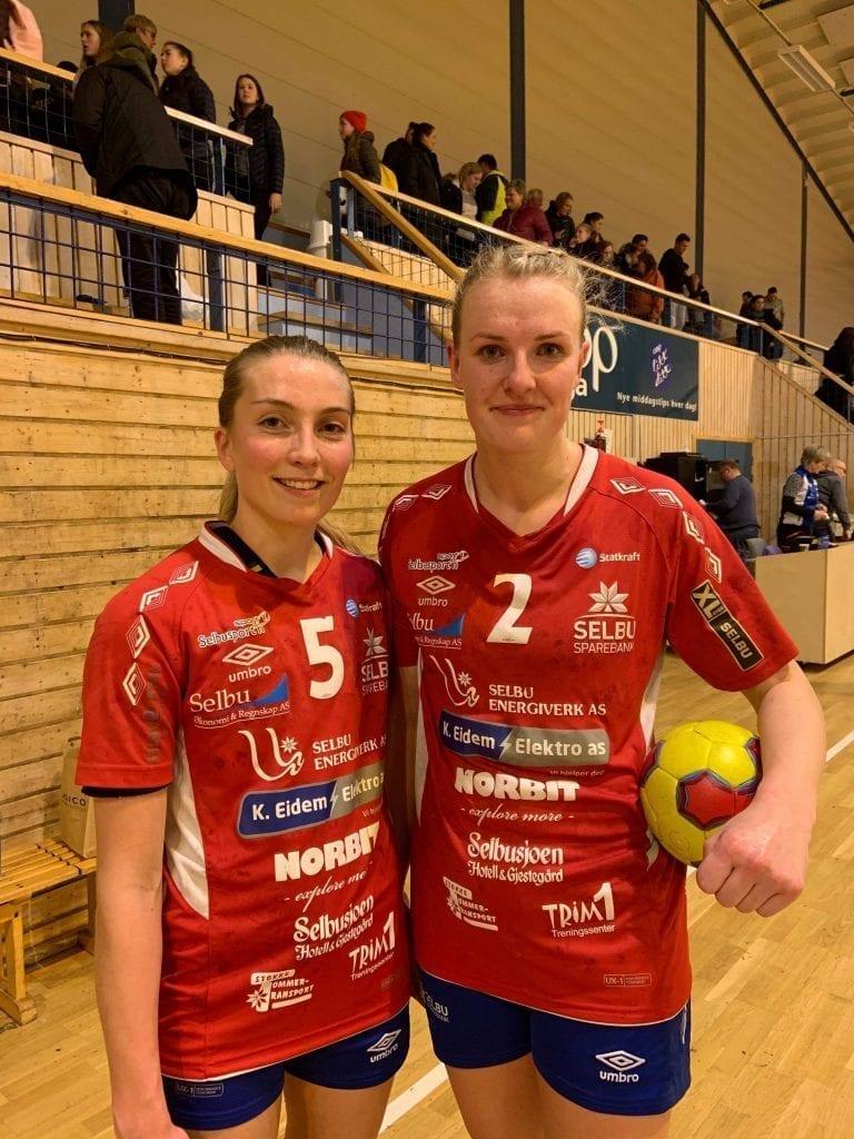 Anne Beate Stokke og Marit Moen spiller for Selbu IL Håndball