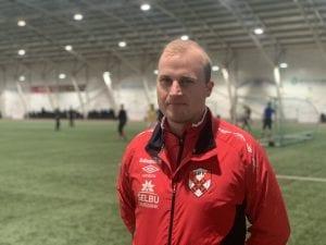 Stian Ofstads trener, Ole Garberg.