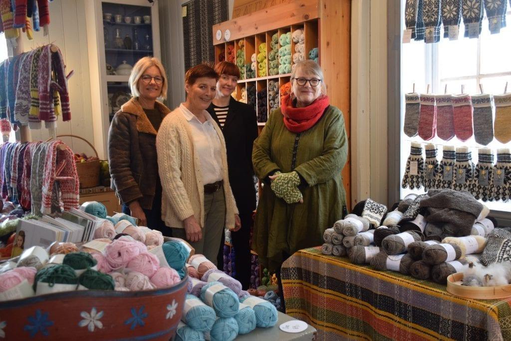 Fra venstre: Lisbeth Nordbye, Liv Grøtte, Annee Grøtte Viken og Anne Lise Valle.