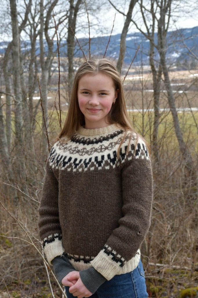 Thora Sofie Matheson Solberg skal spille hovedrollen som Aretha i Yggdrasil – Stjørdals nye utendørsteater. Foto: Lina Tørum