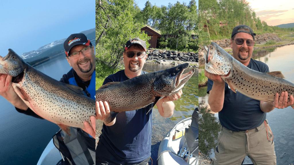 Man kan trygt si at Jo Steffen Kirkvoll er en storfisker. På under 20 timer tok tok han ørret på 4,3 kg, 5,3 kg, og 6,65 kg fra båt på Stugusjøen.