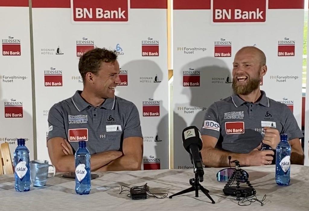 Martin Johnsrud Sundby og Niklas Dyrhaug.