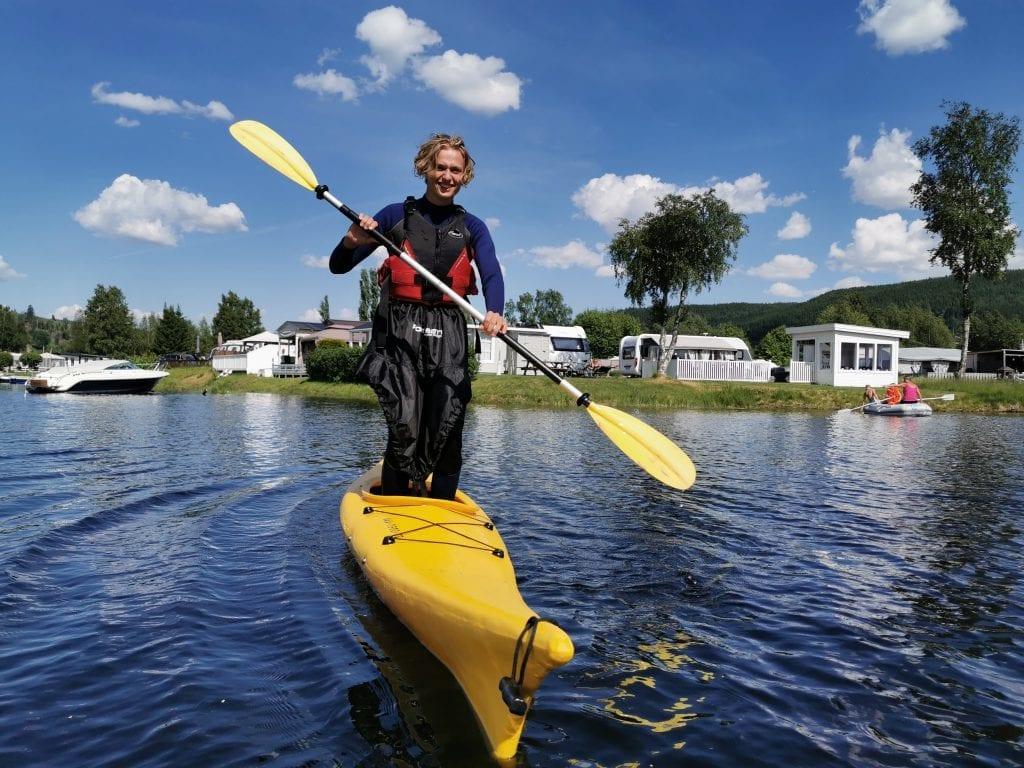 Sigruns sønn Ådne Solli har kanskje bedre balanse enn folk flest. Foto: My Adventure.