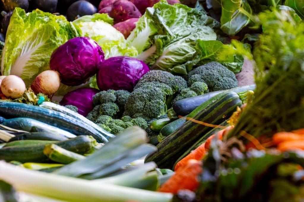 Bugnende grønnsaker
