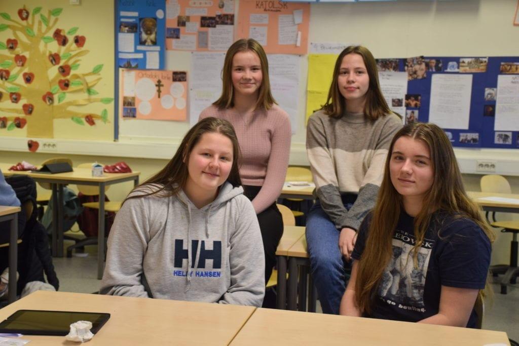 Fire elever på næringslivsdagen