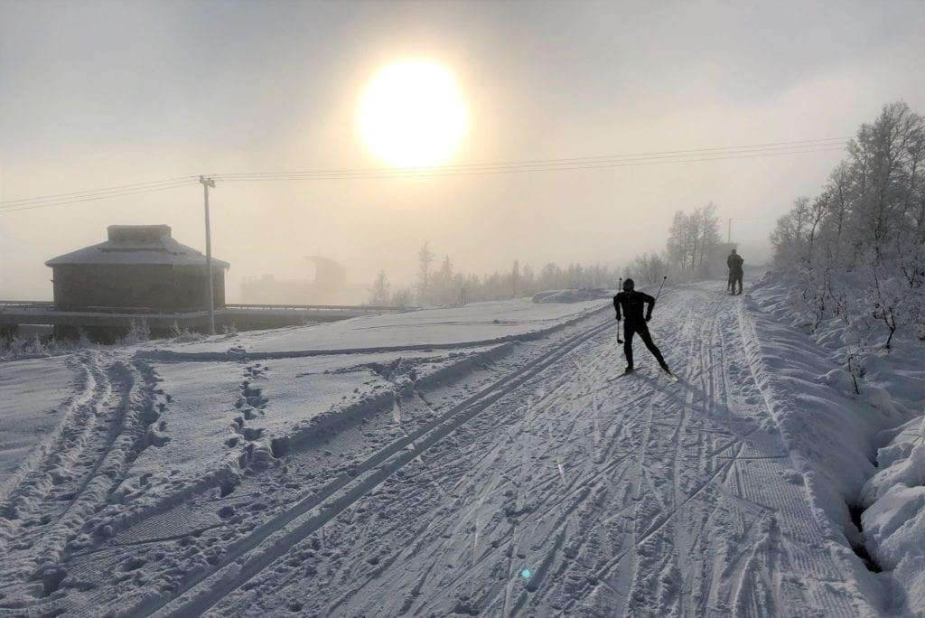 Skispor i Neadalen