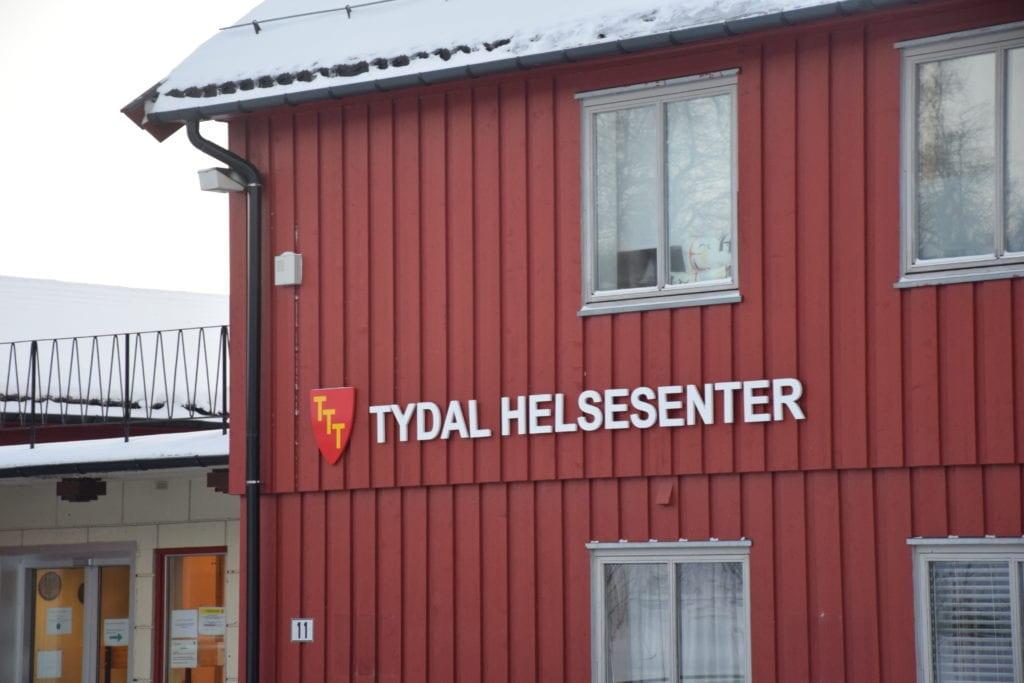 Vaksineringen i Tydal foregår per i dag på Tydal Helsesenter. Foto: Svein Hilmo